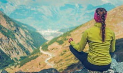 Young Woman Meditating Yoga